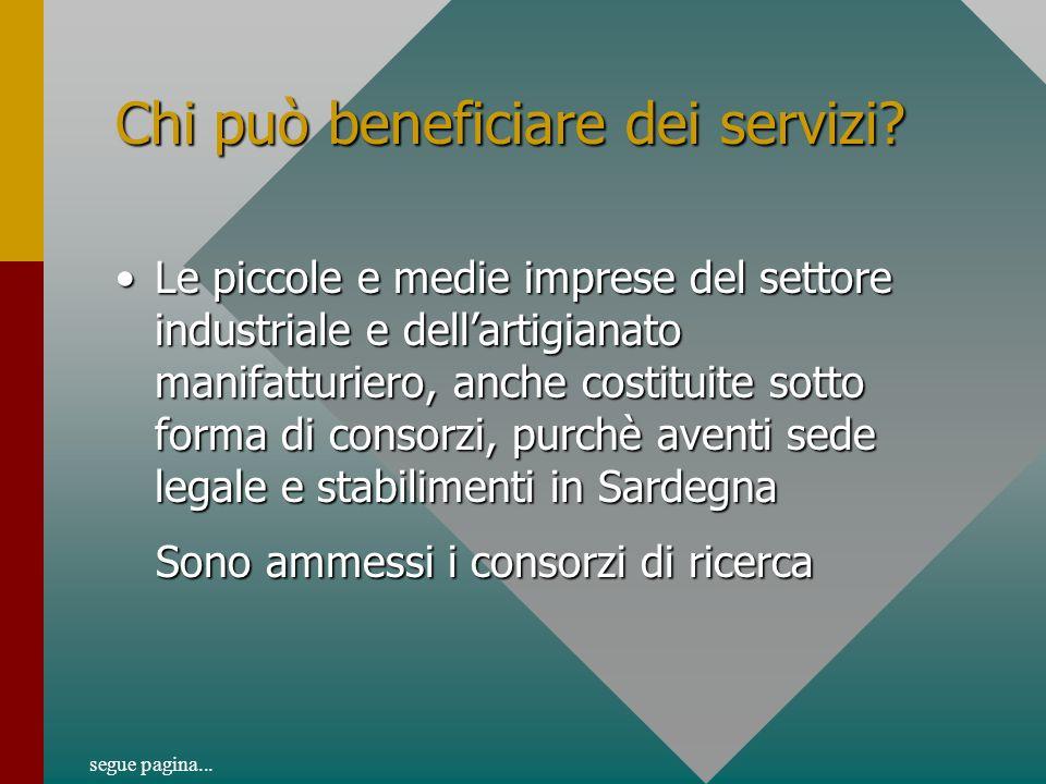 Chi può beneficiare dei servizi.
