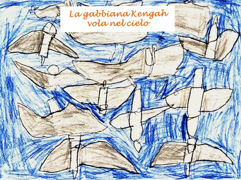 La gabbiana Kengah vola nel cielo