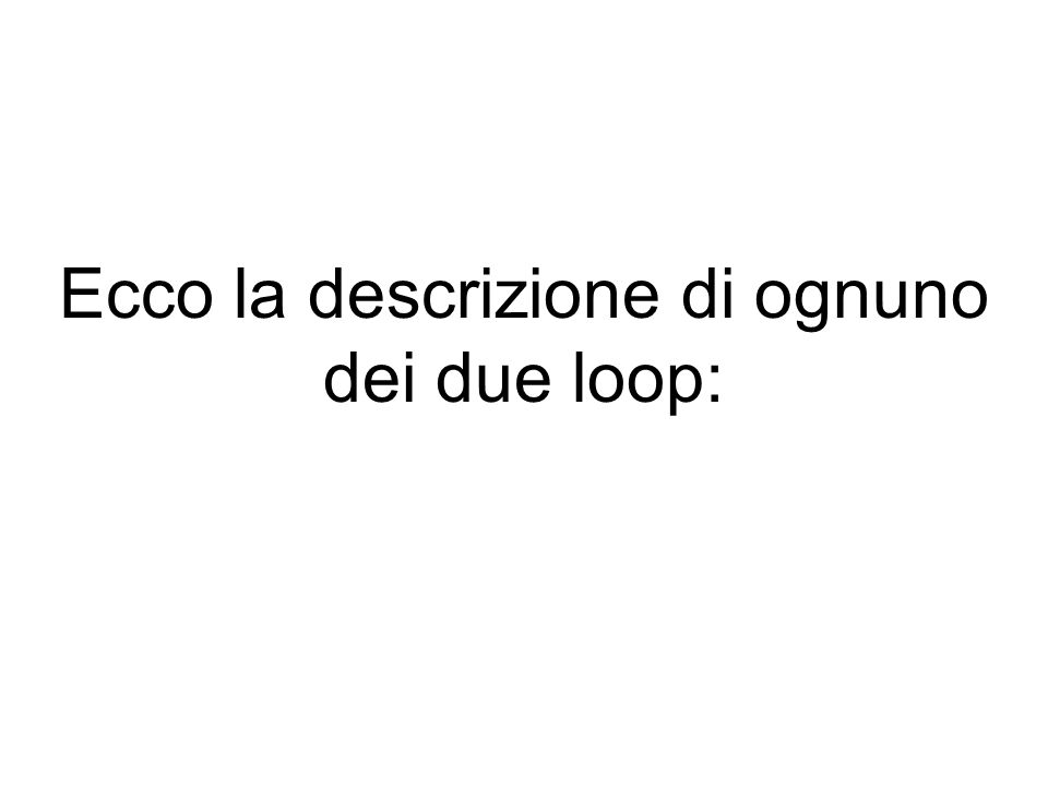 LOOP FOR: SINTASSI: