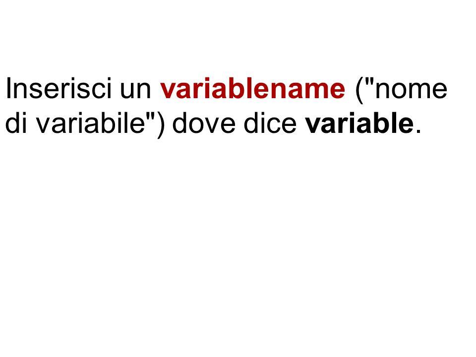 Inserisci il valore finale del loop dove dice endvalue.