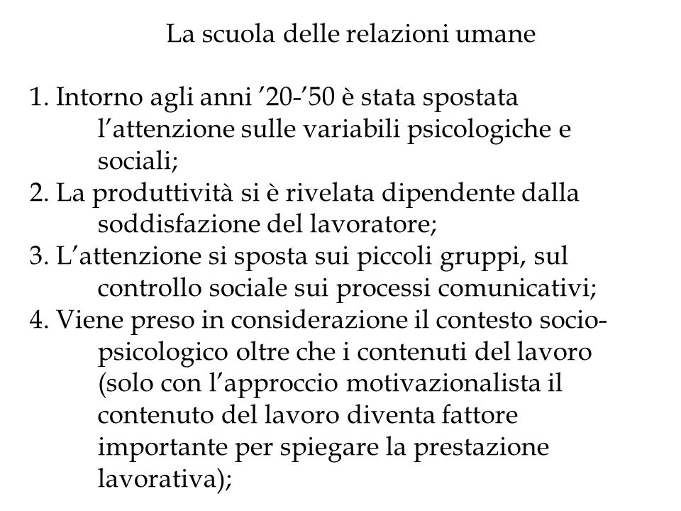 Organizzazione come sistema di trattamento e di gestione delle informazioni (Bernard anni 30; Simon 40, 50) 1.