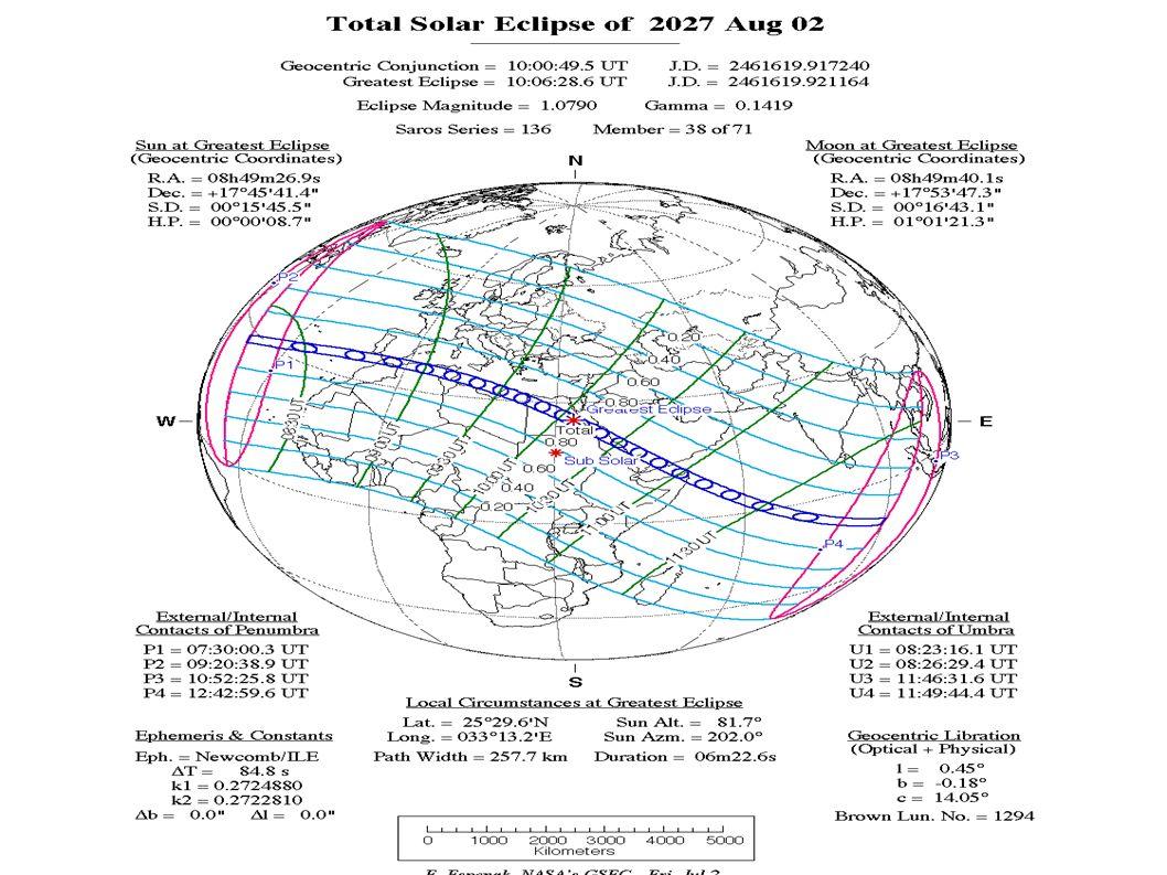 Prossima Eclisse Totale Prossima Eclisse Totale visibile dall Italia sarà nel 2027!