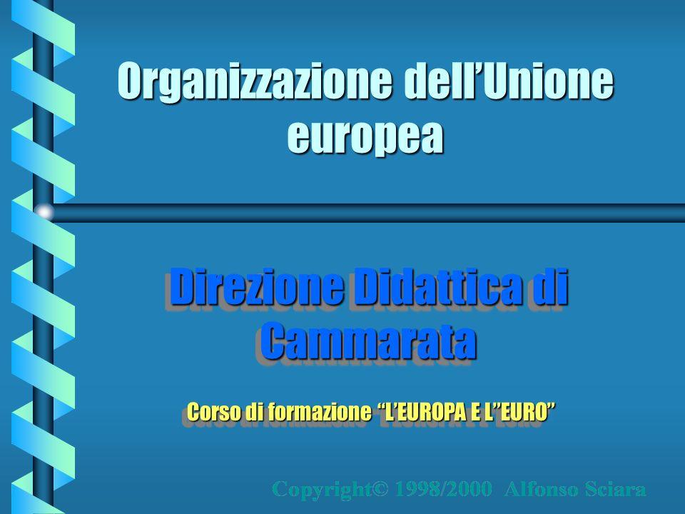 Organizzazione dellUnione europea Direzione Didattica di Cammarata Corso di formazione LEUROPA E LEURO