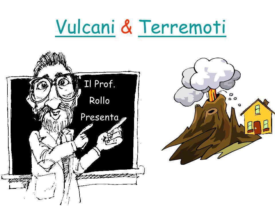 I terremoti La presenza nelle stesse regioni di vulcani e terremoti ha fatto pensare ad un collegamento tra i due fenomeni.