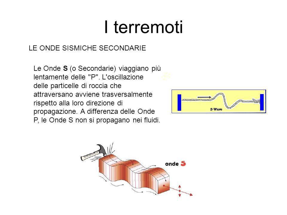 I terremoti LE ONDE SISMICHE PRIMARIE Le Onde P (o Primarie) sono le più veloci.