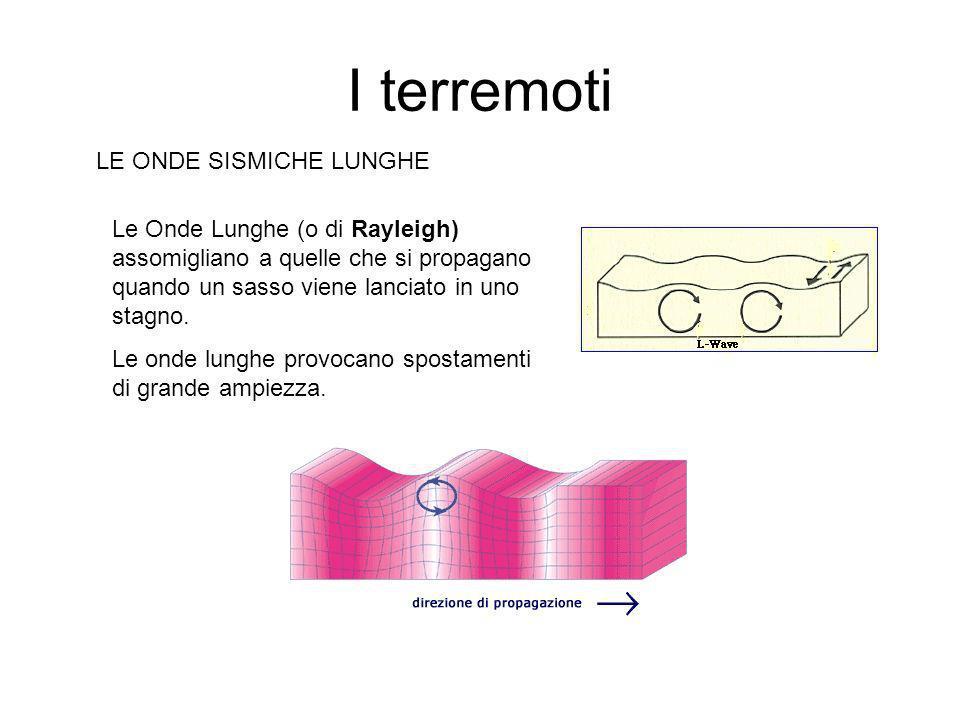 I terremoti LE ONDE SISMICHE SECONDARIE Le Onde S (o Secondarie) viaggiano più lentamente delle P .