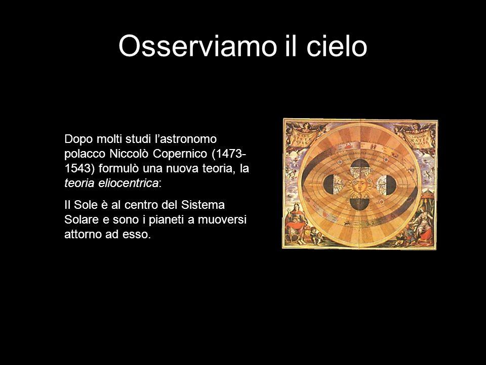 Osserviamo il cielo Copernico riconobbe alla Terra due moti principali 1) Il moto di rotazione attorno al proprio asse, che avviene in senso antiorario da Ovest a Est in un intervallo di tempo chiamato giorno solare