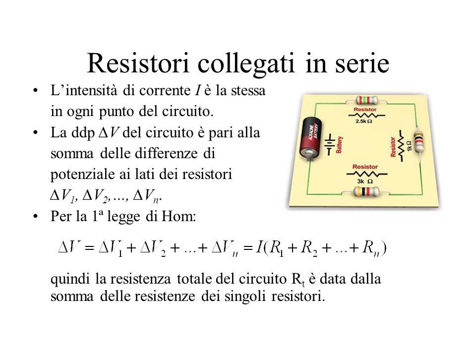 Qualche esercizio sui resistori collegati in serie Qualche esercizio classico