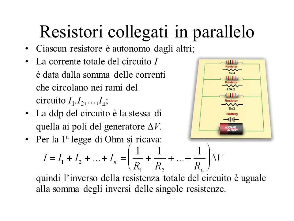 Qualche esercizio sui resistori collegati in parallelo Qualche esercizio classico