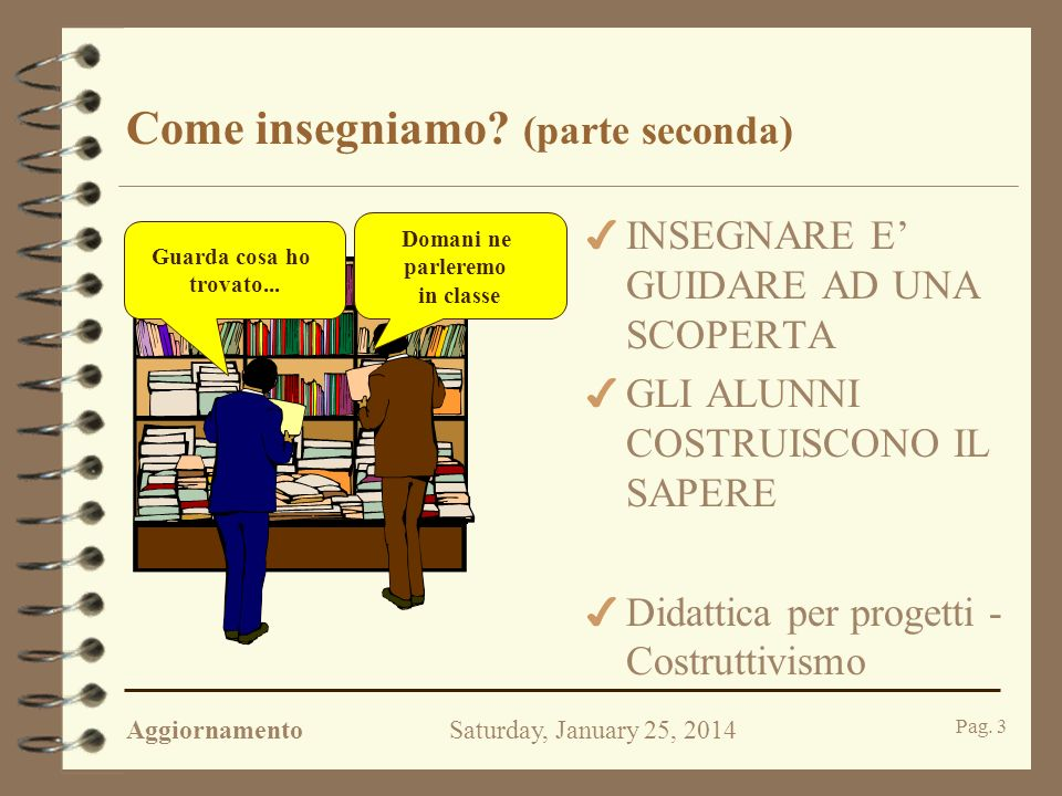 AggiornamentoSaturday, January 25, 2014 Pag.