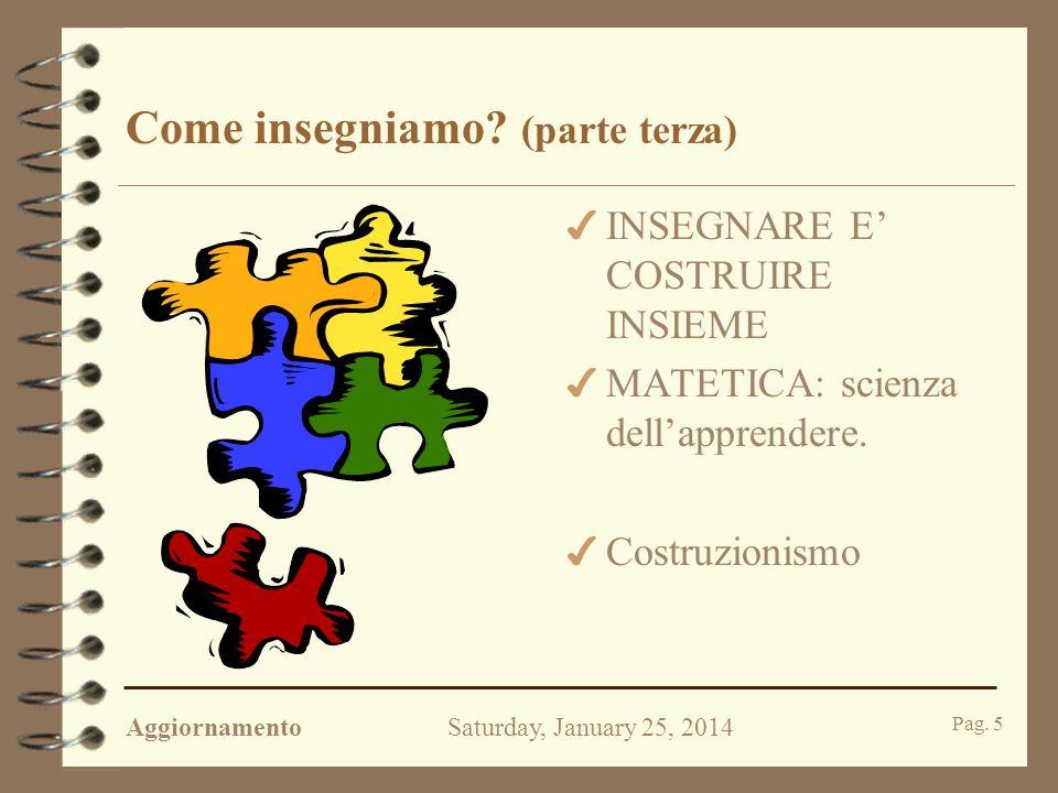 AggiornamentoSaturday, January 25, 2014 Pag.