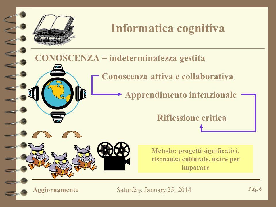 AggiornamentoSaturday, January 25, 2014 Pag. 5 Come insegniamo.