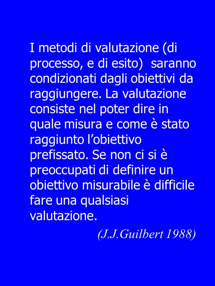 OBIETTIVO CIÒ CHE UNORGANIZZAZIONE DEVE ESSERE IN GRADO DI REALIZZARE AL TERMINE DI UN PROCESSO DI MIGLIORAMENTO, CHE NON ERA CAPACE DI REALIZZARE PRIMA (J.J.Guilbert 1988)