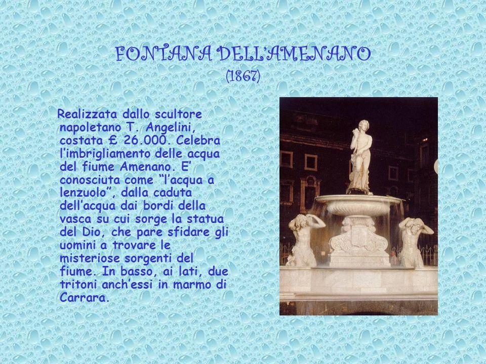 La fontana dellAmenano Scroscio dacqua, odore di pesce vocio quotidiano, rumore di vita.