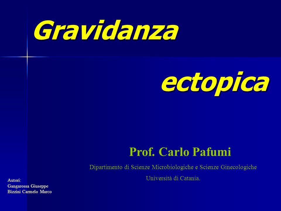 Gravidanza ectopica Gravidanza ectopica Prof. Carlo Pafumi Dipartimento di Scienze Microbiologiche e Scienze Ginecologiche Università di Catania. Auto