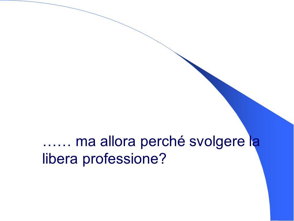…… ma allora perché svolgere la libera professione?