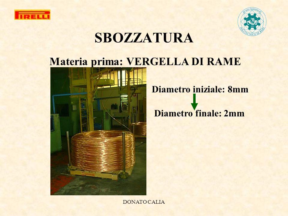 DONATO CALIA SBOZZATURA Materia prima: VERGELLA DI RAME Diametro iniziale: 8mm Diametro finale: 2mm