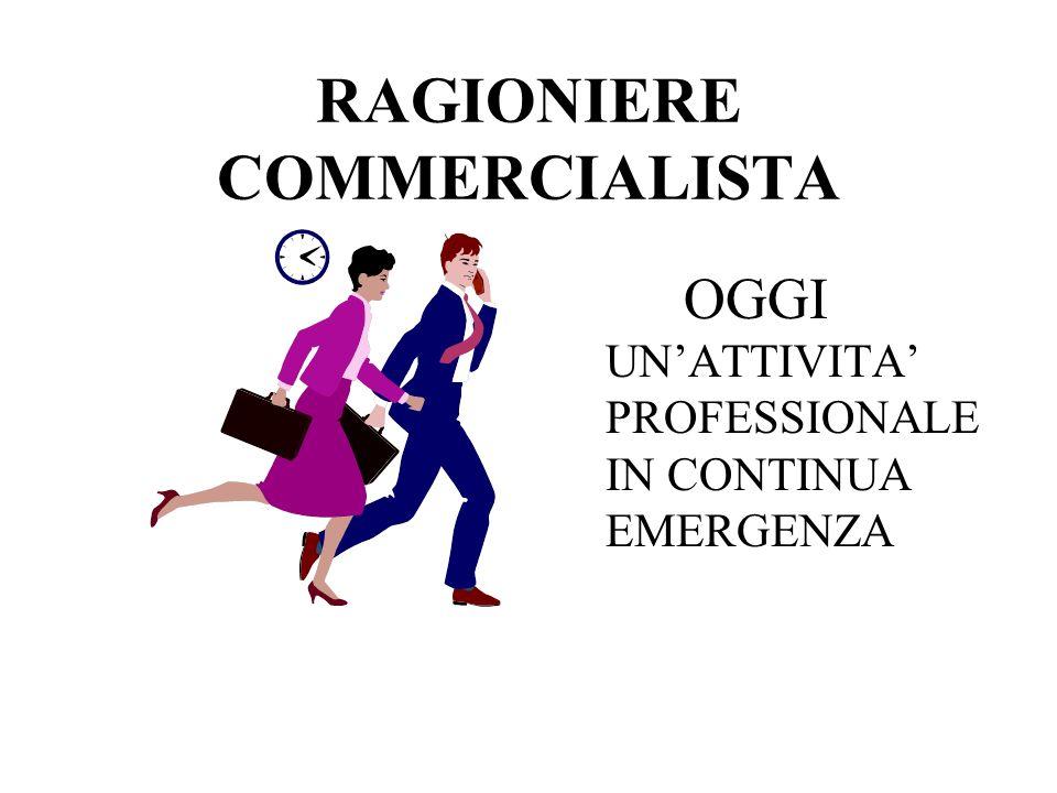 RAGIONIERE COMMERCIALISTA OGGI UNATTIVITA PROFESSIONALE IN CONTINUA EMERGENZA