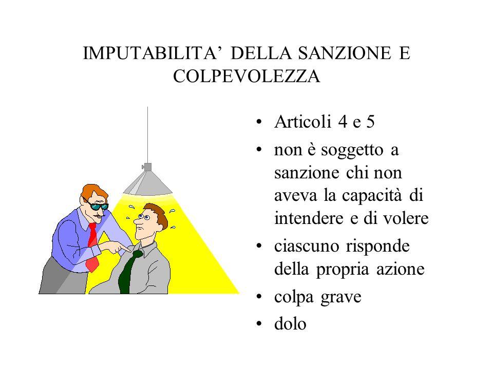 CRITERI DI DETERMINAZIONE DELLA SANZIONE Art.