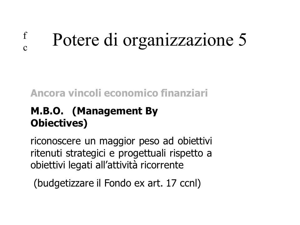 Ancora vincoli economico finanziari M.B.O.