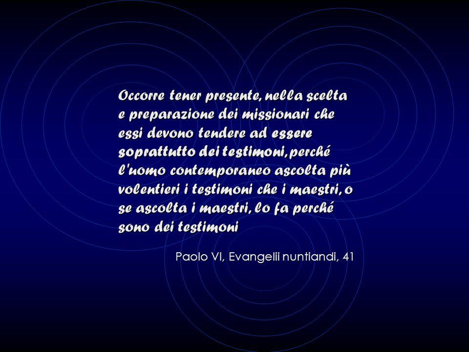 Fin dall'avvio della fase di preparazione, è necessario procedere alla scelta e all'invito dei Missionari esterni e in pari tempo individuare e scegli
