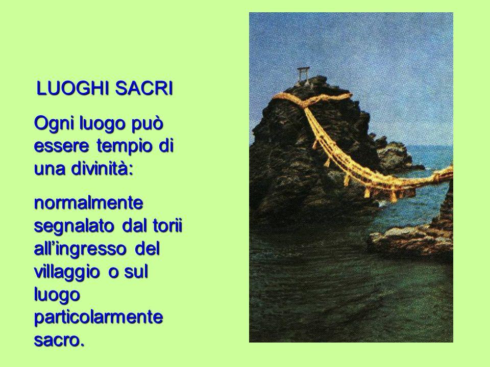 LUOGHI SACRI - Nel corso dellanno i fedeli compiono vari pellegrinaggi in luoghi sacri: sia naturali che artificiali.