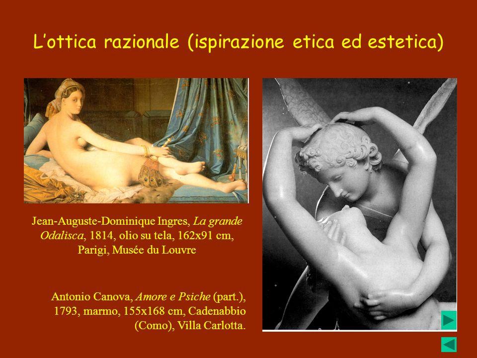 Lottica razionale (ispirazione etica ed estetica) Jean-Auguste-Dominique Ingres, La grande Odalisca, 1814, olio su tela, 162x91 cm, Parigi, Musée du L