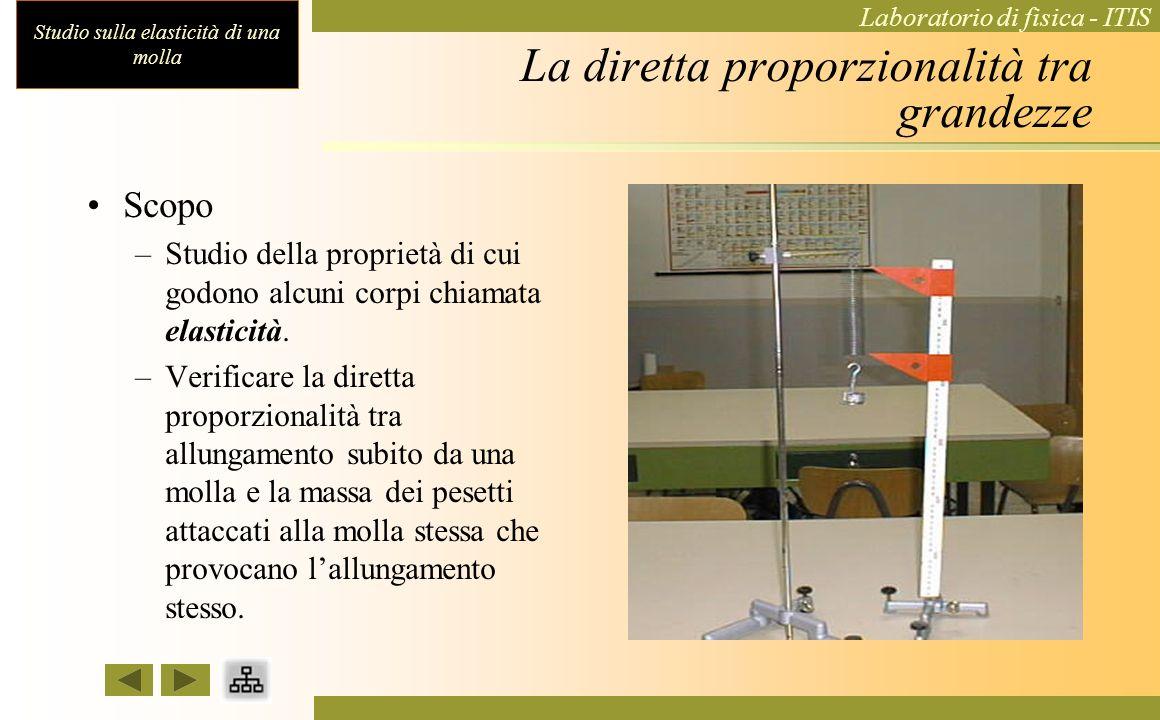Studio sulla elasticità di una molla Laboratorio di fisica - ITIS Esperienza di laboratorio sullelasticità