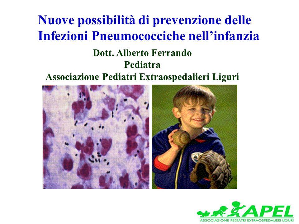 Nuove possibilità di prevenzione delle Infezioni Pneumococciche nellinfanzia Dott.