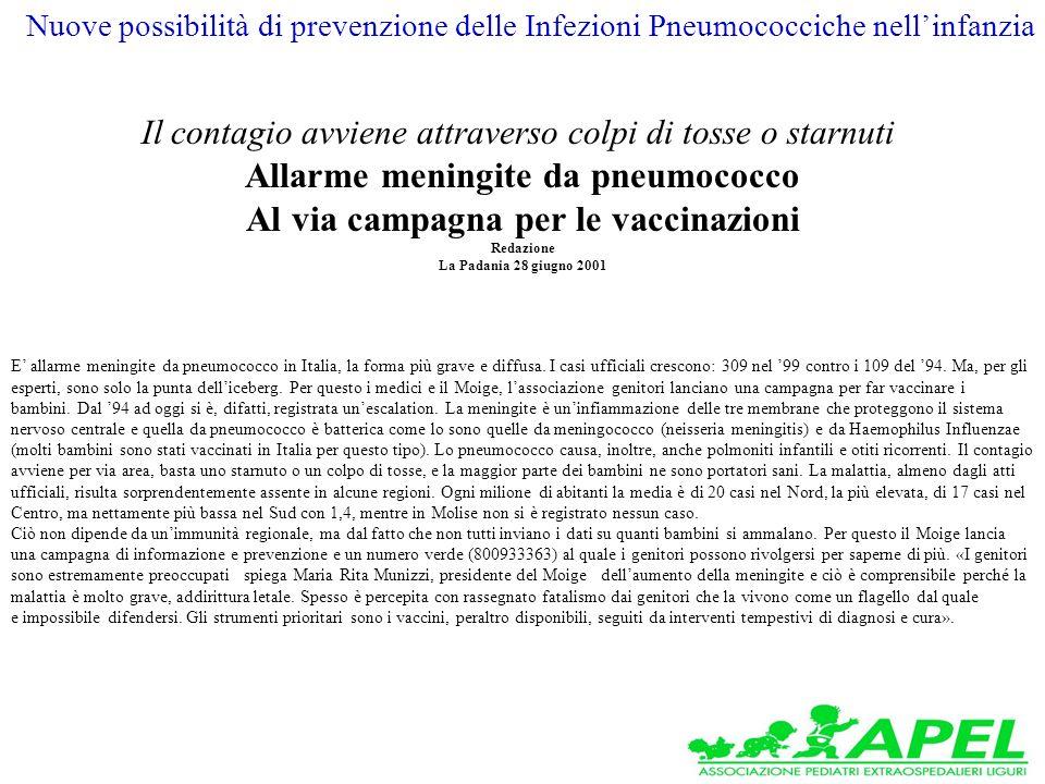 E allarme meningite da pneumococco in Italia, la forma più grave e diffusa.