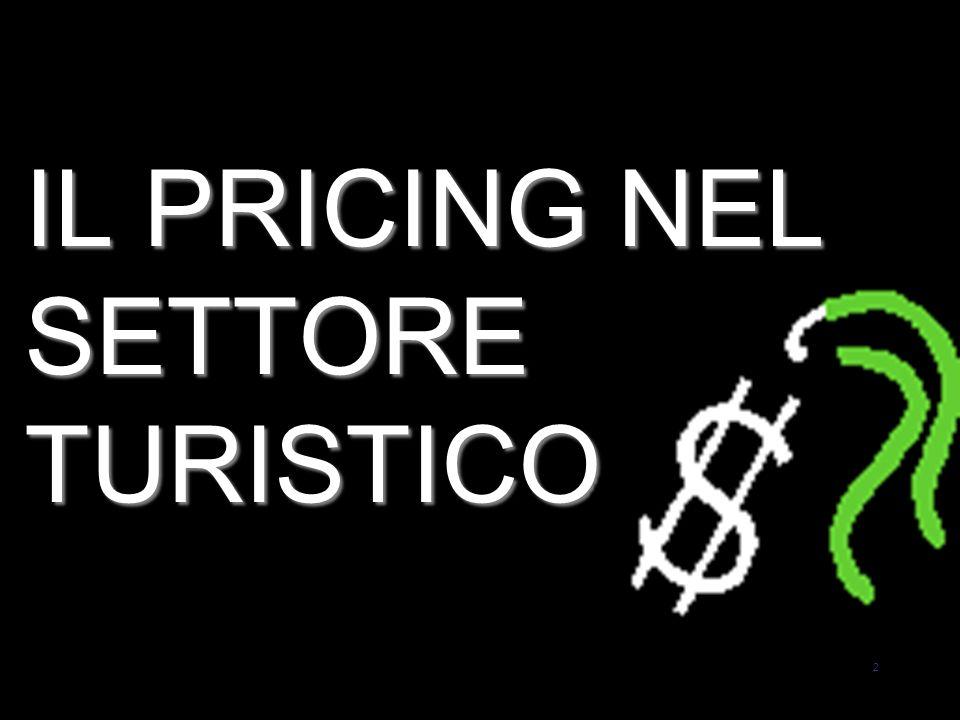 23 Il Pricing nel settore turistico Principali variabili che influenzano il prezzo Laltro elemento da non sottovalutare è la concorrenza: individuato il prezzo fissato dal leader del mercato, si tende ad applicare un prezzo allineandosi a questi, con il rischio che tale prezzo non sia remunerativo