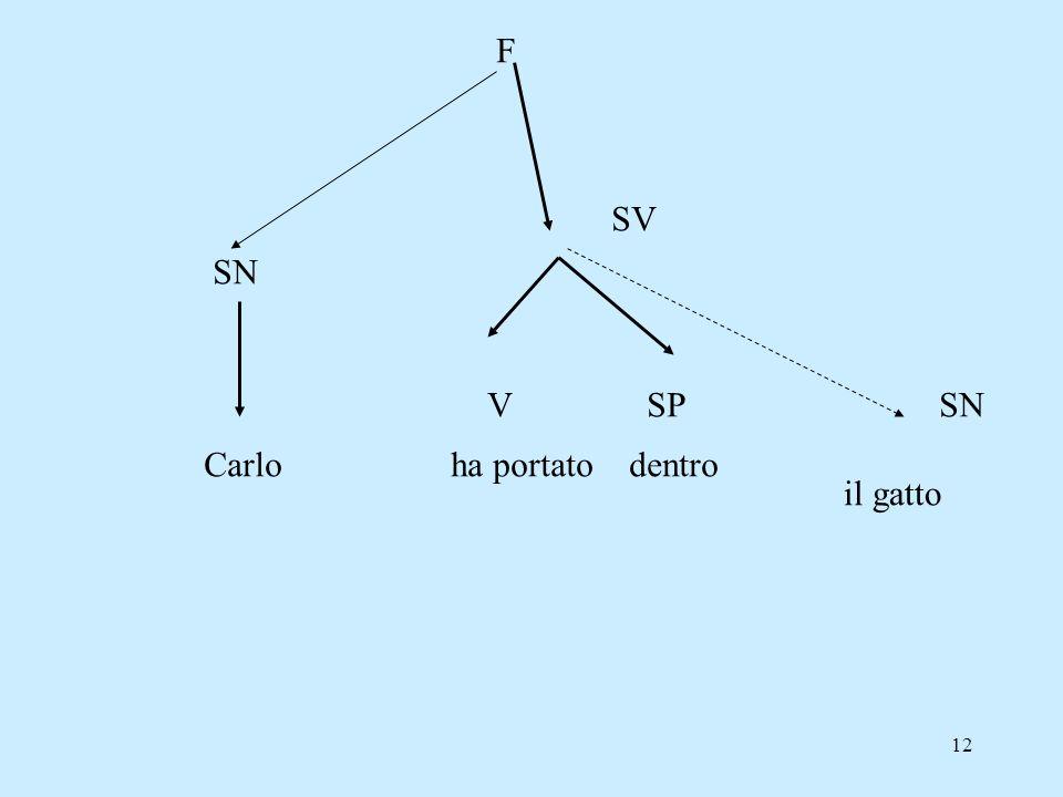 12 Carlo ha portato dentro il gatto SN SV VSPSN F