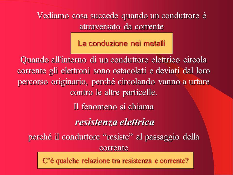 La 1 a legge di Ohm La costante R è la resistenza elettrica.