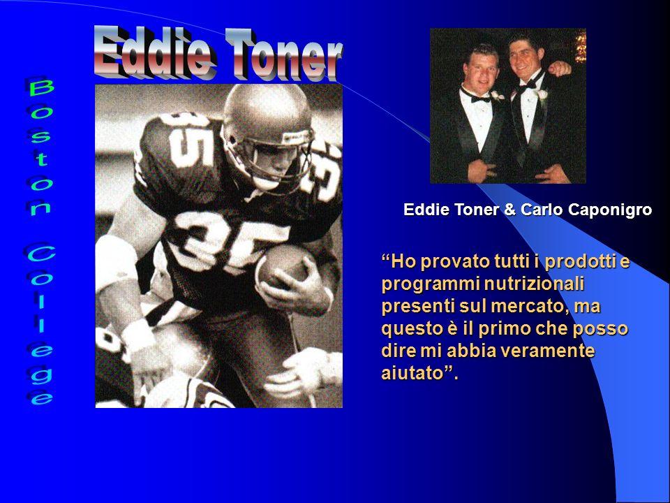 Eddie Toner & Carlo Caponigro Ho provato tutti i prodotti e programmi nutrizionali presenti sul mercato, ma questo è il primo che posso dire mi abbia veramente aiutato.