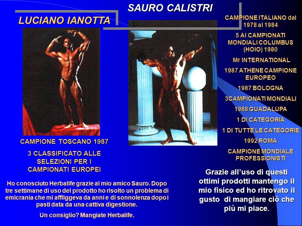 LUCIANO IANOTTA CAMPIONE TOSCANO 1987 3 CLASSIFICATO ALLE SELEZIONI PER I CAMPIONATI EUROPEI SAURO CALISTRI CAMPIONE ITALIANO dal 1978 al 1984 5 AI CA