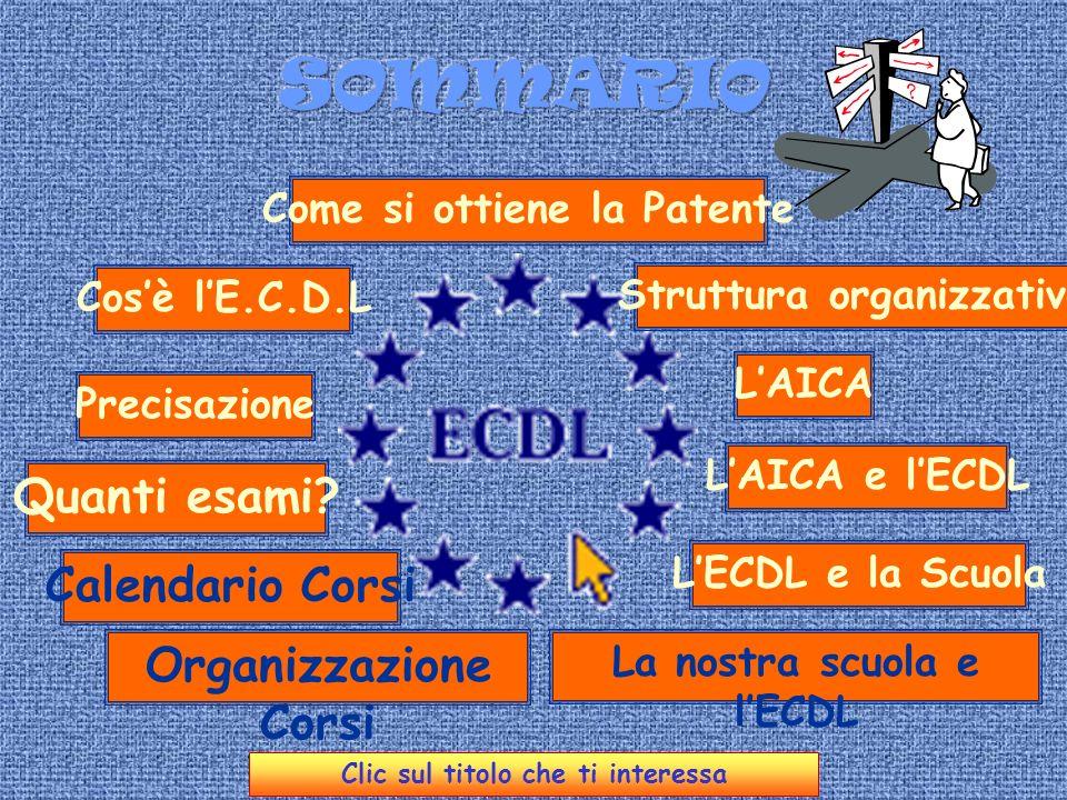 La Patente Europea di Guida del Computer European Computer Driving License avanti LI.T.C.S.