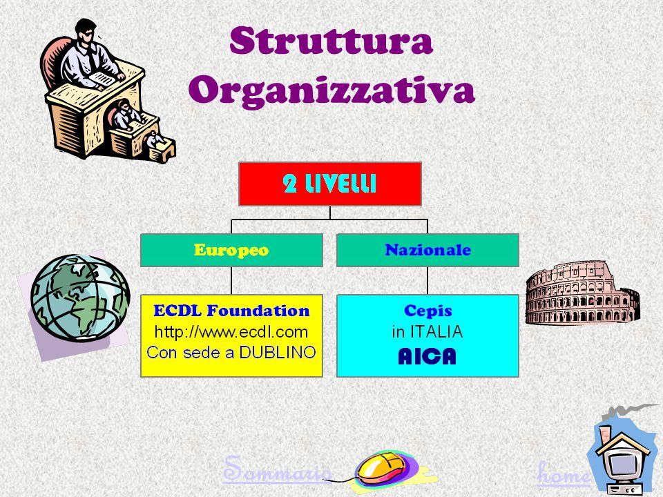 Struttura Organizzativa Sommario home