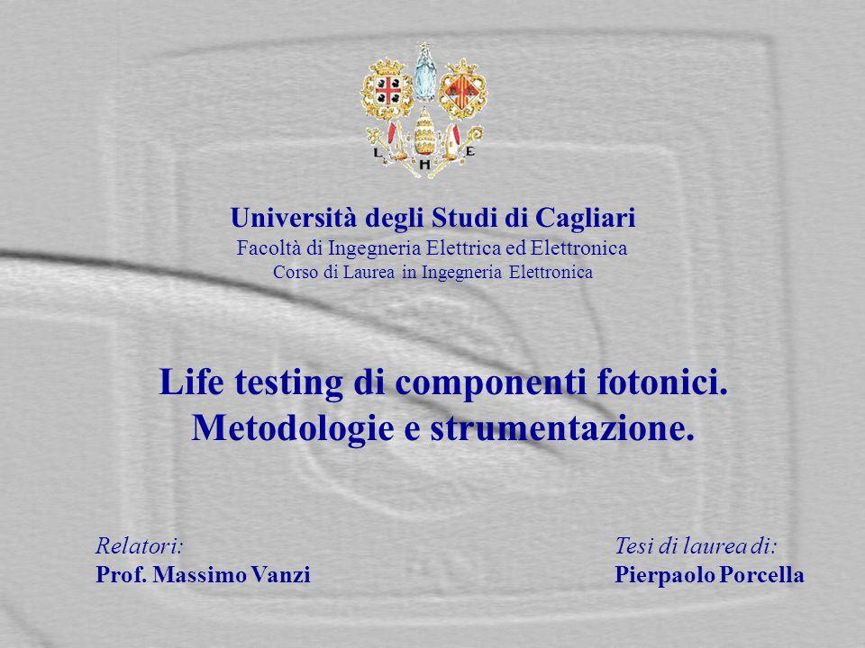 Università degli Studi di Cagliari Facoltà di Ingegneria Elettrica ed Elettronica Corso di Laurea in Ingegneria Elettronica Relatori:Tesi di laurea di