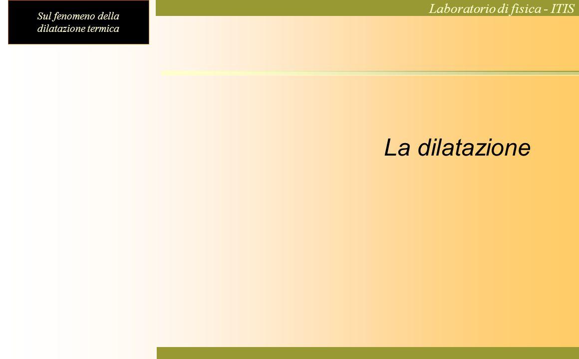 Sul fenomeno della dilatazione termica Laboratorio di fisica - ITIS La dilatazione