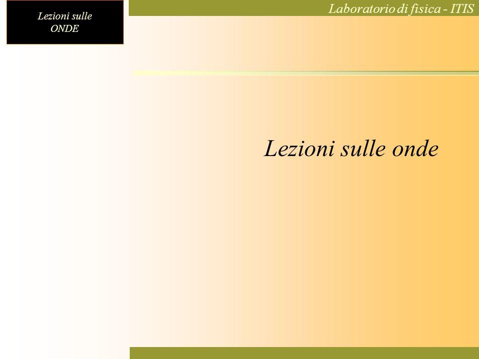 Lezioni sulle ONDE Laboratorio di fisica - ITIS Onde di superficie (sasso gettato in uno stagno) Fotografia dellonda
