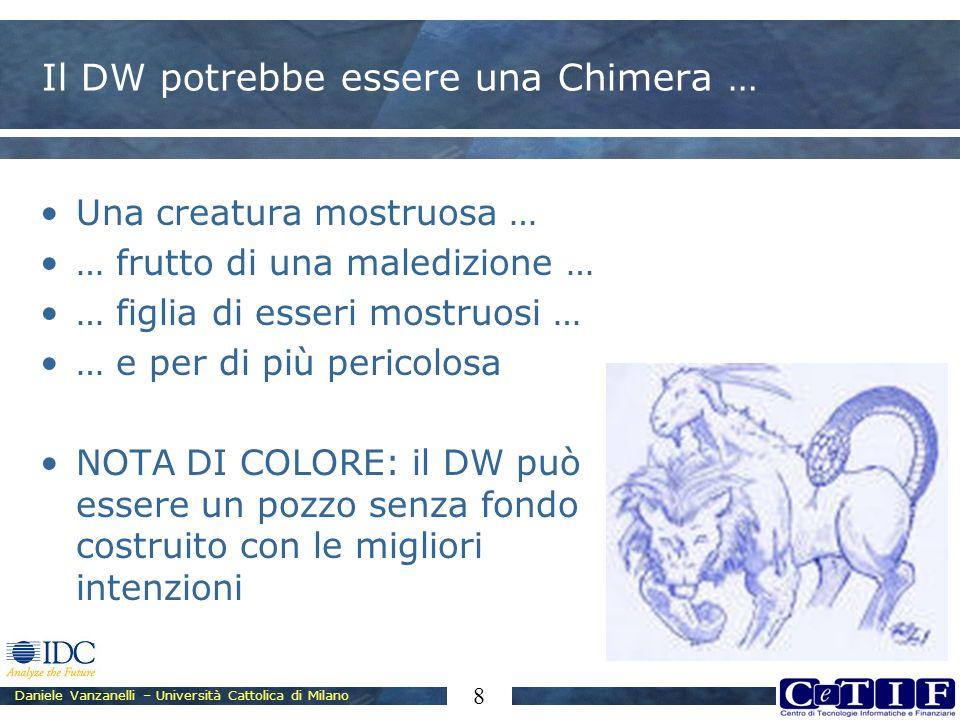 Daniele Vanzanelli – Università Cattolica di Milano 8 Il DW potrebbe essere una Chimera … Una creatura mostruosa … … frutto di una maledizione … … fig