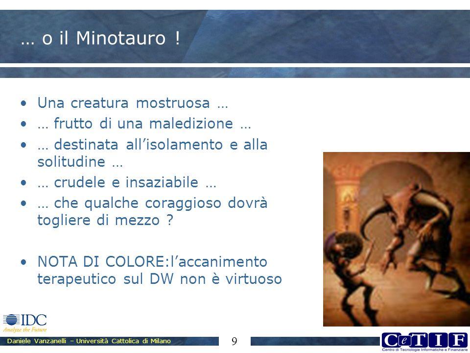 Daniele Vanzanelli – Università Cattolica di Milano 9 … o il Minotauro ! Una creatura mostruosa … … frutto di una maledizione … … destinata allisolame