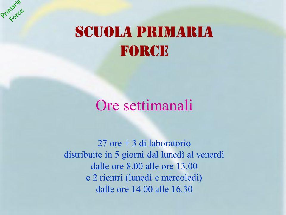 Secondaria Force Classe terza S.O.S.