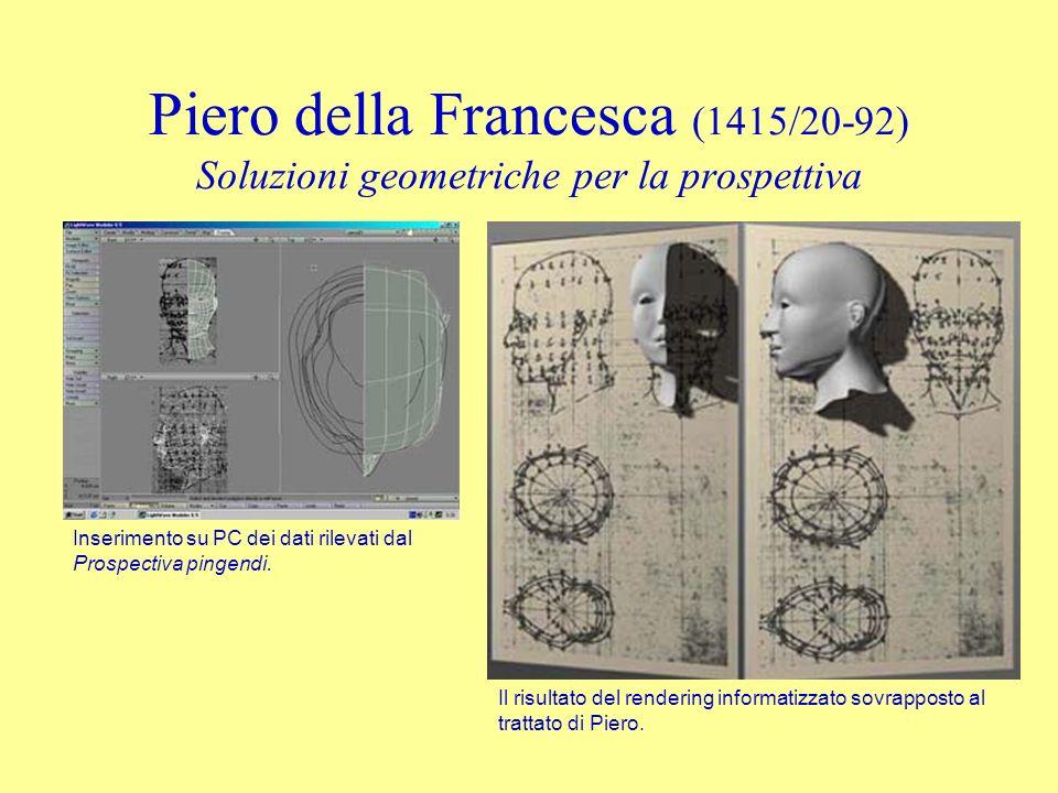 Piero della Francesca (1415/20-92) Soluzioni geometriche per la prospettiva Piero della Francesca, De prospectiva pingendi, 1475 ca. Studio tomografic