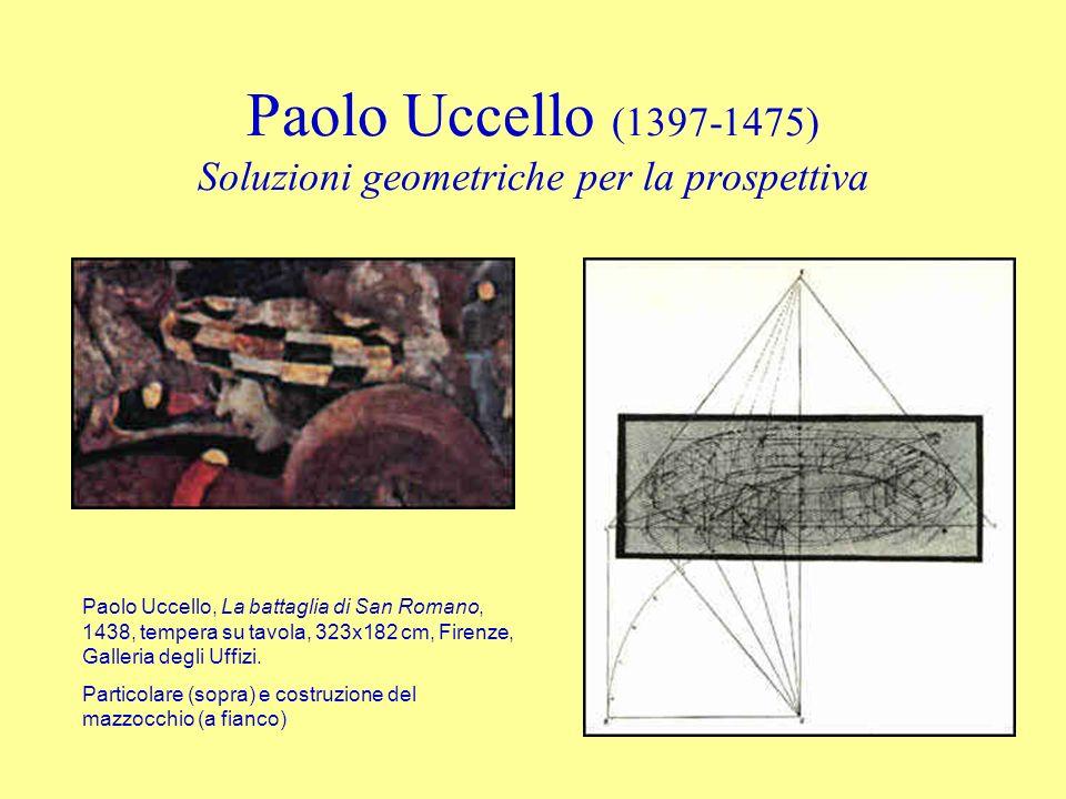 Paolo Uccello (1397-1475) Soluzioni geometriche per la prospettiva Paolo Uccello, La battaglia di San Romano, 1438, tempera su tavola, 323x182 cm, Fir