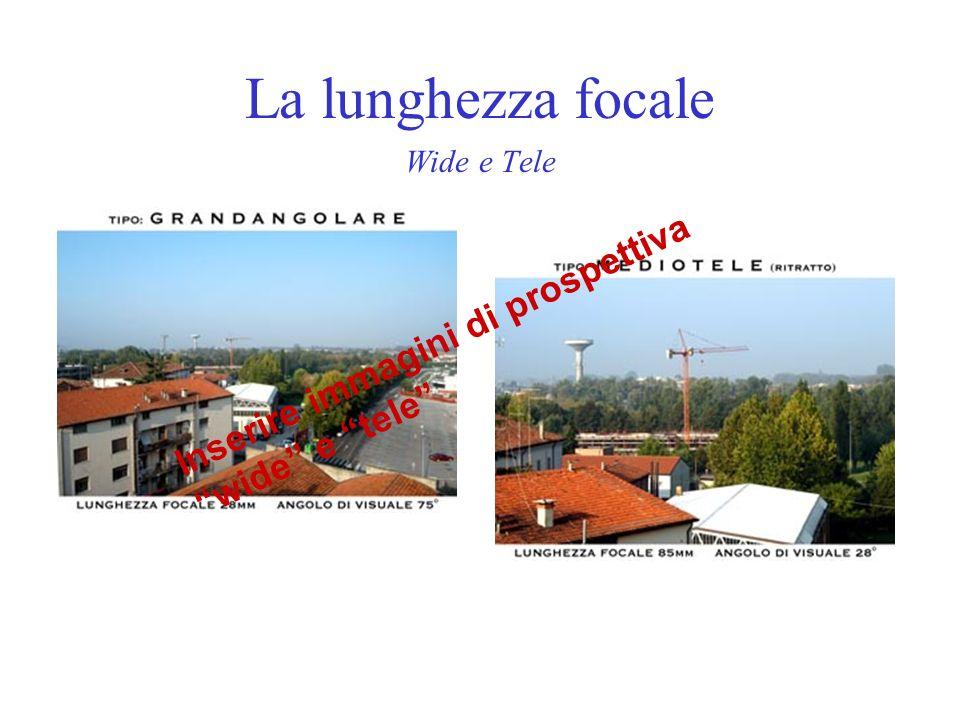 La lunghezza focale Wide e Tele Inserire immagini di prospettiva wide e tele