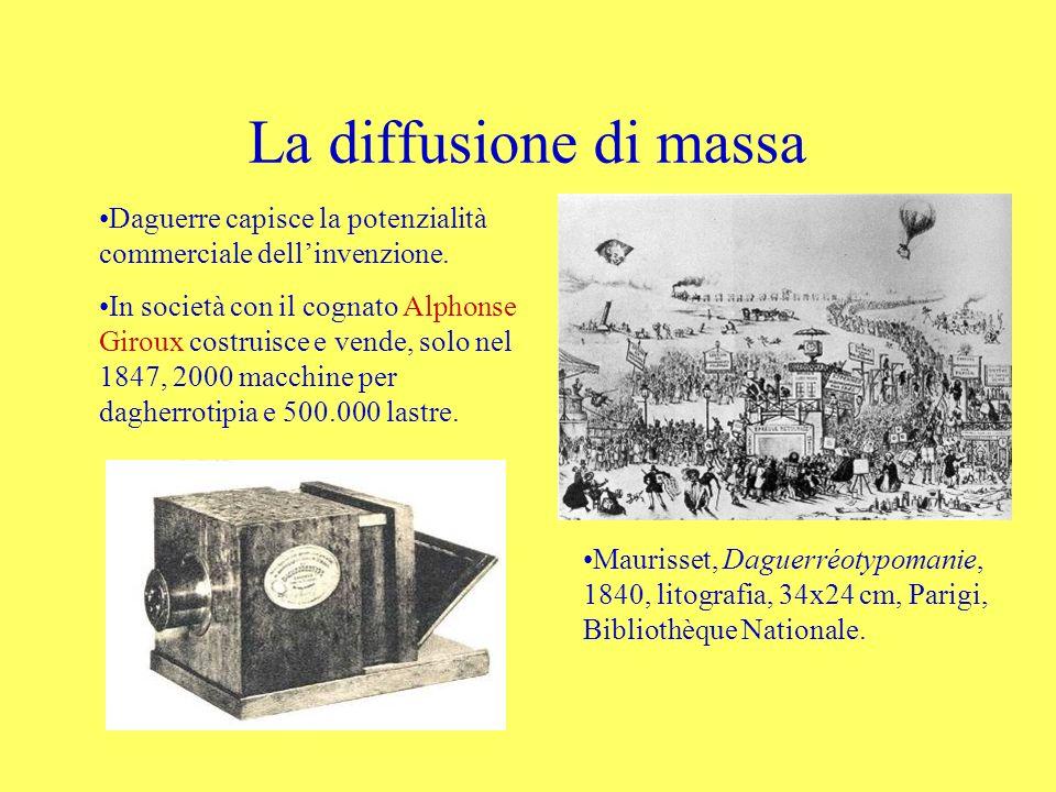 La diffusione di massa Daguerre capisce la potenzialità commerciale dellinvenzione. In società con il cognato Alphonse Giroux costruisce e vende, solo
