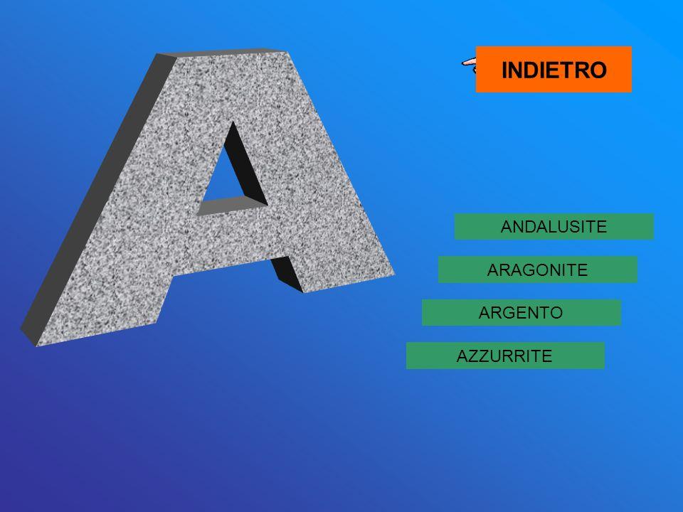 ANDALUSITE AZZURRITE ARGENTO ARAGONITE INDIETRO