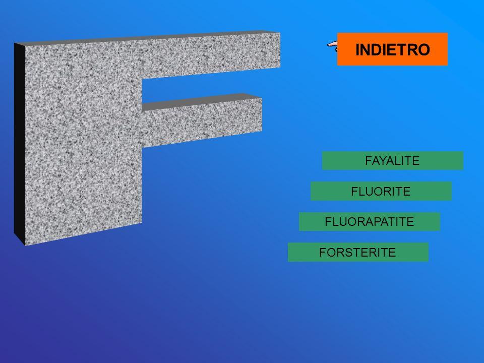 FAYALITE FORSTERITE FLUORAPATITE FLUORITE INDIETRO