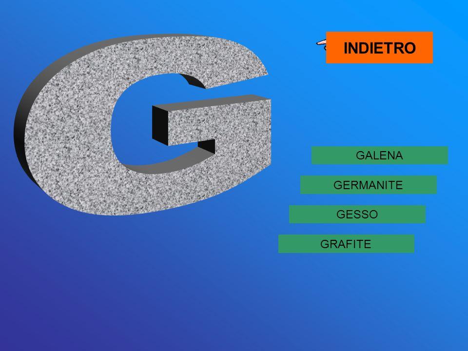 GALENA GRAFITE GESSO GERMANITE INDIETRO
